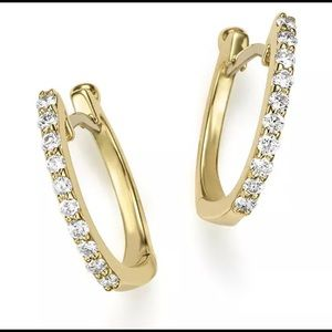 ONE Roberto Coin Gold and Diamonds Huggie Earring